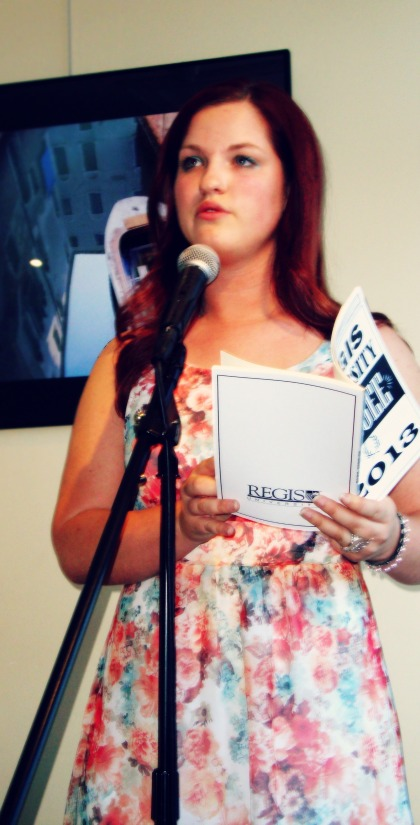 Reading 'Pumpkin Carving' at my reading at the Innisfree Poetry Bookstore in Boulder, CO