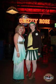 A friend and I at the Rose's Halloween celebration in 2012. Photo courtesy of the Grizzly Rose Facebook.